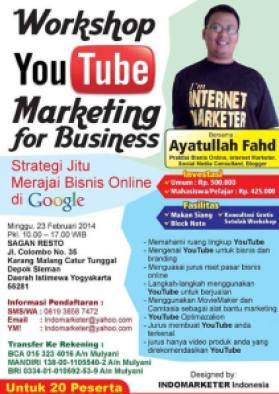 seminar Youtube marketing, Pembicara Youtube Maketing, Workshop Youtube Marketing, Pembicara Internet Marketing, Ayatullah Fahd yogyakarta