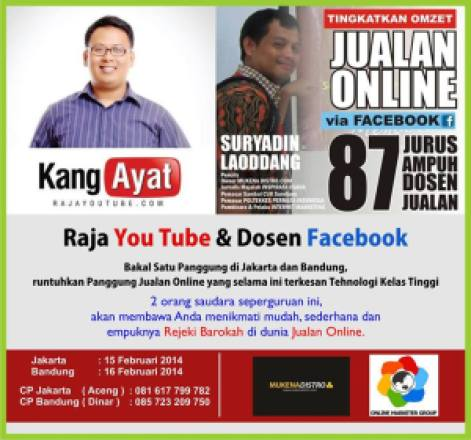 Workshop Youtube Marketing, Pembicara Internet Marketing, Pembicara Youtube Marketing, Workshop Facebook Marketing
