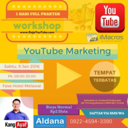 WORKSHOP YouTube Marketing iMacros 9 Jan 2016