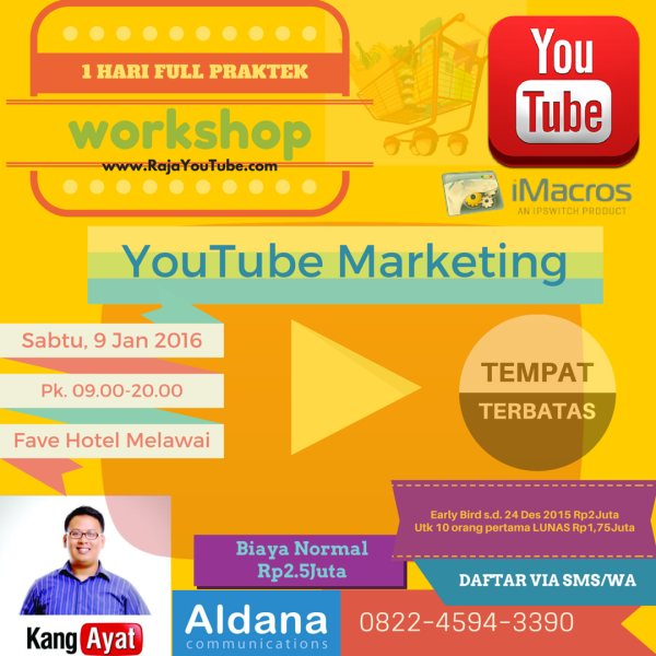 WORKSHOP YouTube Marketing iMacros 9 Jan 2016