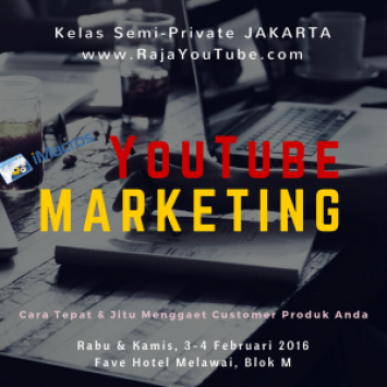 YouTube Marketing Kelas Semi-Private_jakarta